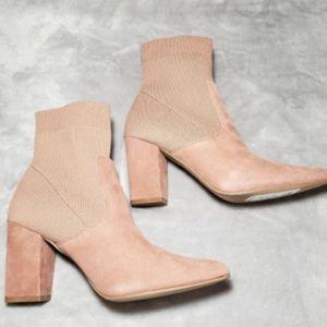 ✨🦩 Blush Suede Sock Bootie ✨🦩